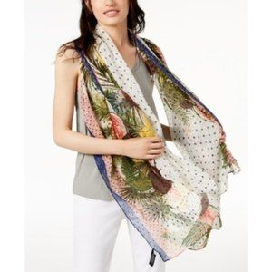 I.N.C. Tropical Stripe Pareo, Multicolor, One Size